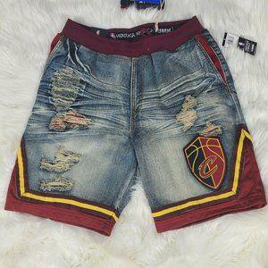 Cleveland Cavs Heritage America Unk Denim Shorts